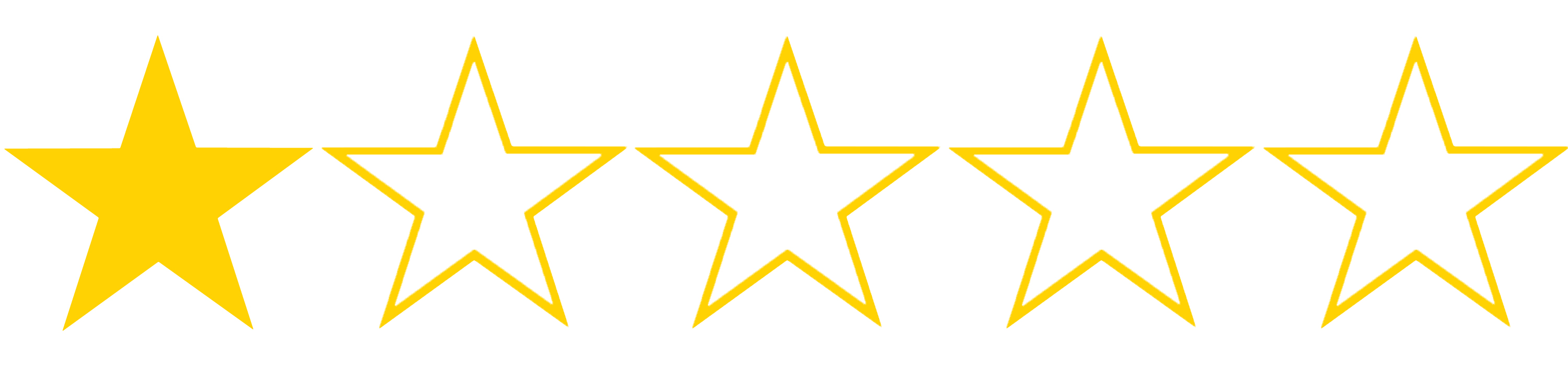 image of 1 star out of 5 rating